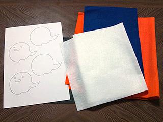型紙と端切れ